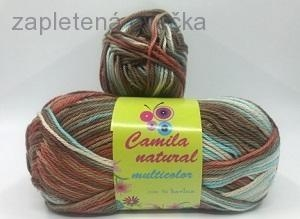 Příze Camila natural multicolor č.9192