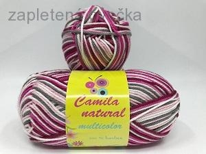 Příze Camila natural multicolor  2527