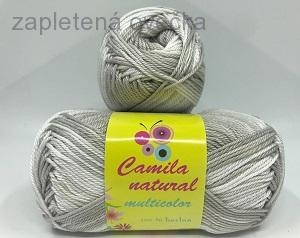Příze Camila natural multicolor 9039